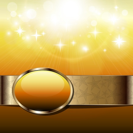 shimmer: Abstract background sunny with gold banner.