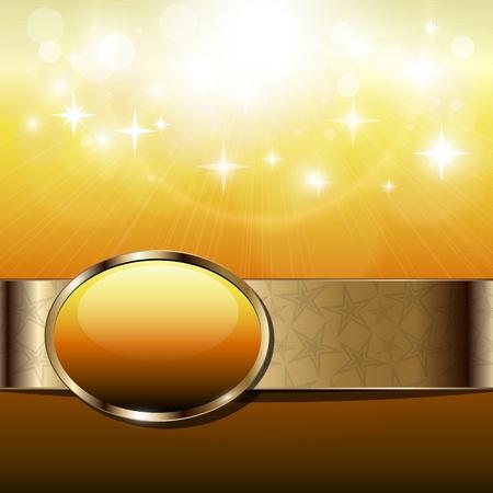 bursts: Astratto soleggiata con banner oro.