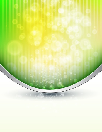 Abstract background green lights Vector