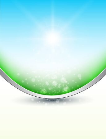 Abstract background, sunny sky and magic dust. Vector