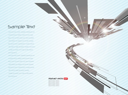 technology cover: Abstract business background Illustration