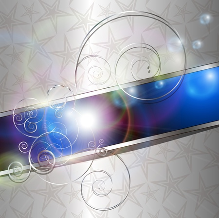metallic banners: Abstract silver background illustration.