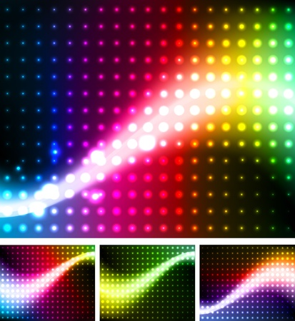 Abstract background colorful lights Vector