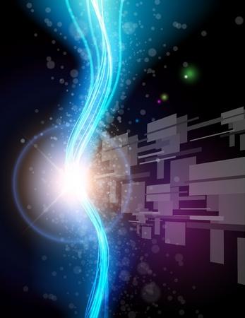 Abstract background cosmic vortex, vector illustration.