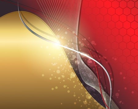 Abstract business background gold red, vector. Stock Vector - 9823090