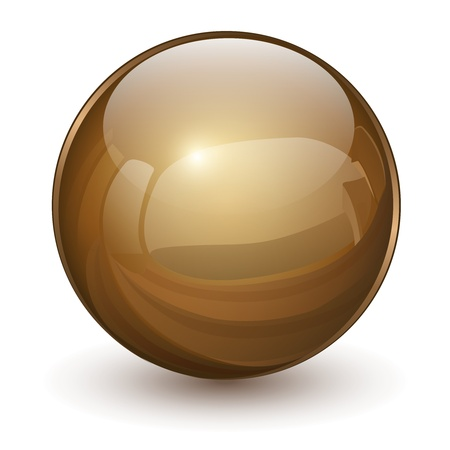 sphere: 3D glass sphere, vector illustration.