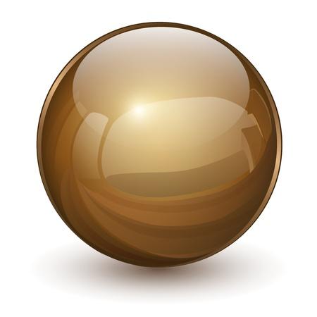 Sfera di vetro 3D, illustrazione vettoriale. Vettoriali