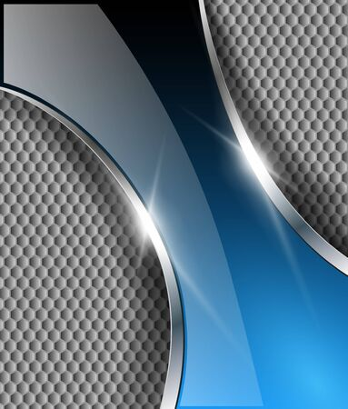 metallic banners: Abstract metallic background with glossy banner, vector.