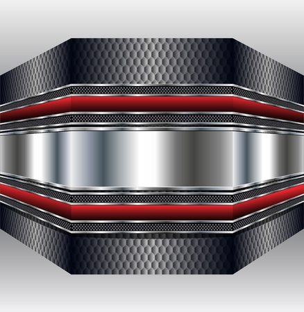Abstract background 3D metallic, vector illustration. Stock Vector - 9823113