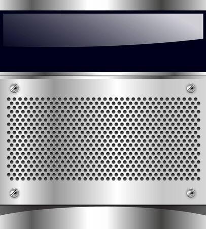Abstract background technology metallic, vector. Stock Vector - 9932626