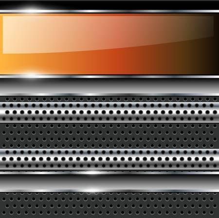 Abstract background modern technology metallic, vector. Vector