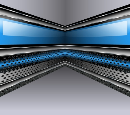 Abstract background 3D metallic, vector illustration. Vector