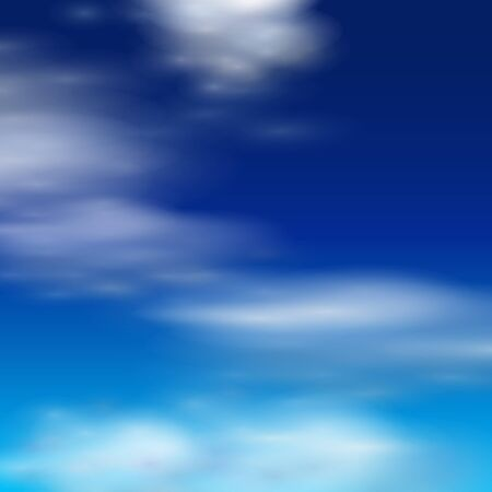 cloud formation: Clouds realistic illustration. Illustration