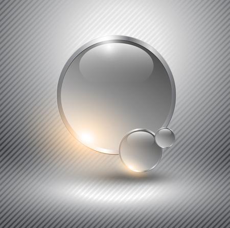 Abstracte achtergrond met goud glazen bollen.