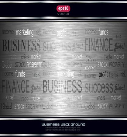 Abstract business background grey metallic. Stock Vector - 10058339