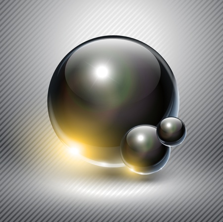 Abstract background with glass balls  Vector
