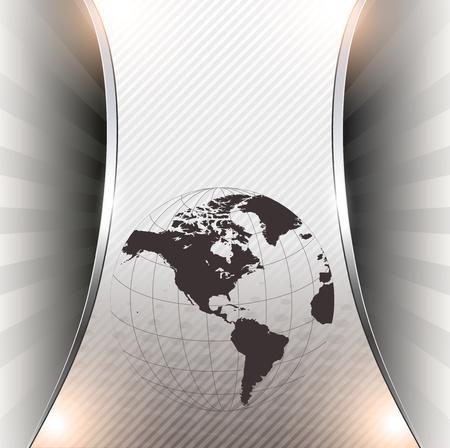 Business background grey metallic, modern design  Stock Vector - 10117931