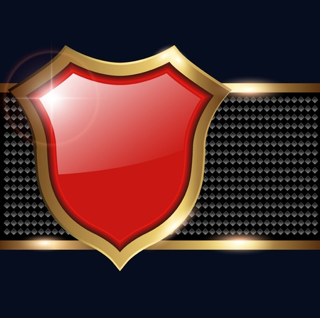 Abstract background, with shield for text Stock Vector - 10281544