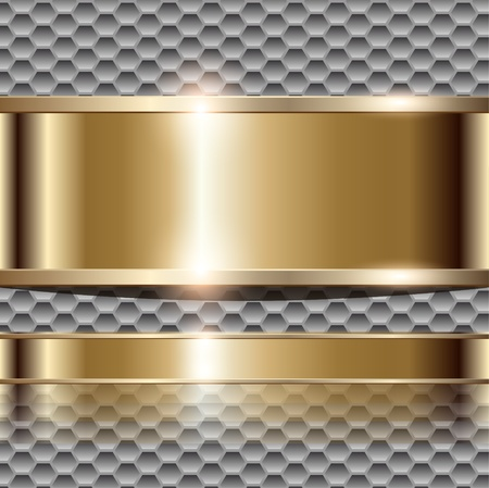 corporal: Abstract  luxury background with gold banner