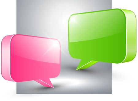 Abstract background with 3D speech bubble Vector