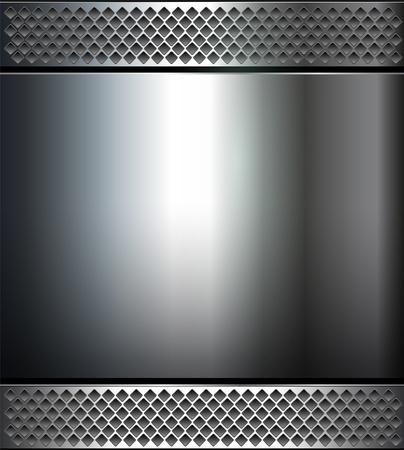 Fond, texture métal poli. Vecteurs