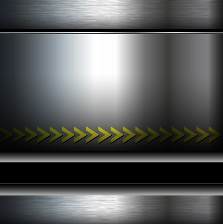 Abstract metallic background, danger zone.