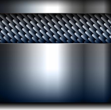 technlogy: Abstract background, metallic design. Illustration