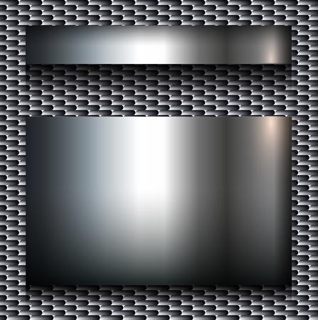 Abstract background, metallic design. Vector
