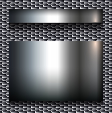 brushed steel: Abstract background, metallic design. Illustration