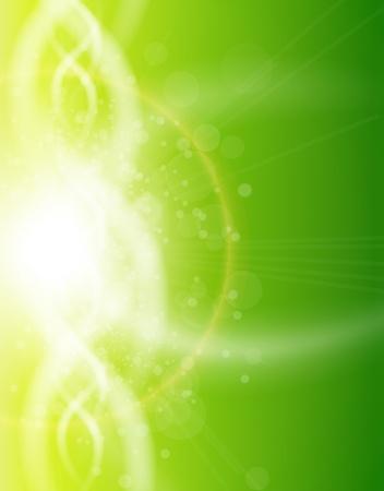 Green background, vector illustration. Stock Vector - 10415826