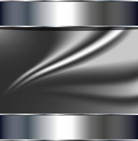 хром: Абстрактный фон, металлический серебристо-серый, вектор.