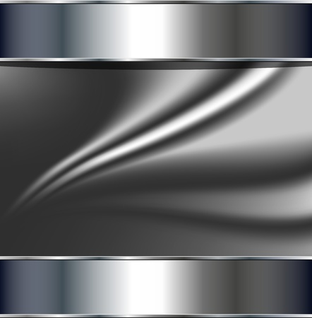 cromo: Resumen de antecedentes, gris plata metalizado, vector.