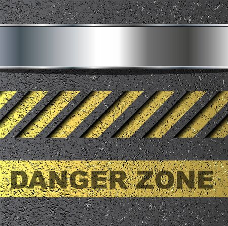 Abstract background with danger warning, vector. Vector
