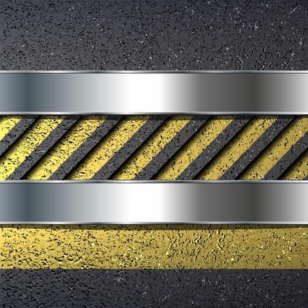 chrome border: Abstract background with asphalt texture, vector.