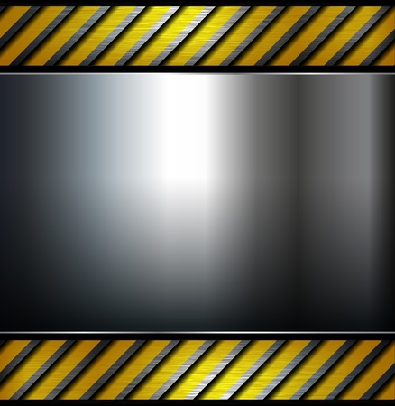 Metal background template, vector illustration. Vector