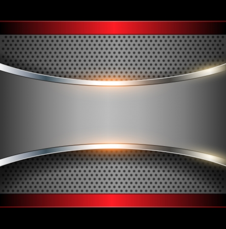 silver circle: Elegante vector metallico, astratto.