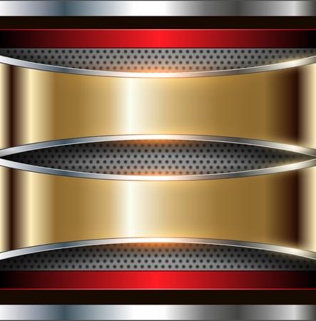 금속의: 배경 메탈릭 골드와 실버, 벡터.