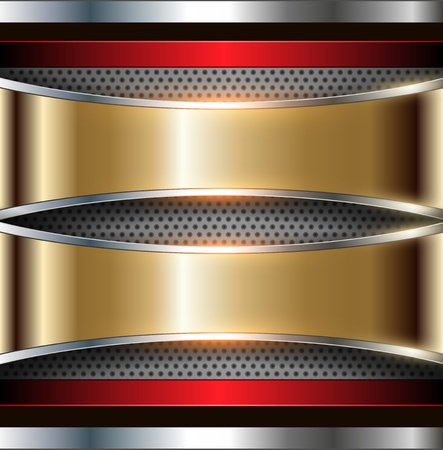 aerodynamic: Background metallic gold and silver, vector.