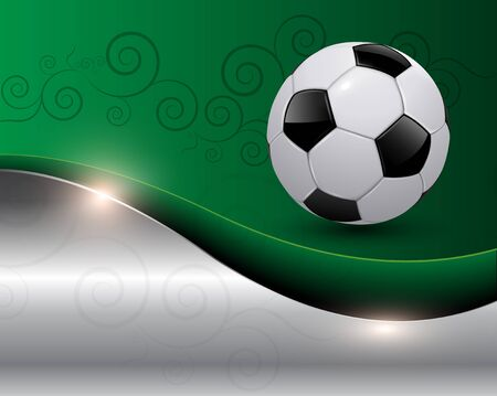 Green soccer background vector illustration Stock Vector - 10478206