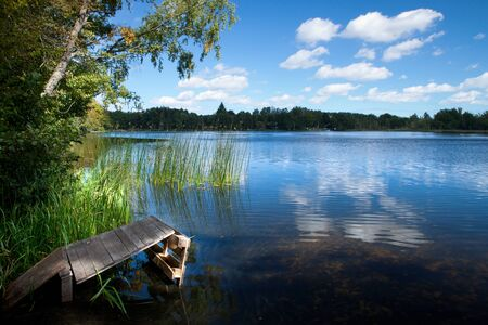 Summer scenic countryside lake