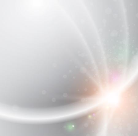 koel: Abstracte vloeiende lichte lijnen vector achtergrond