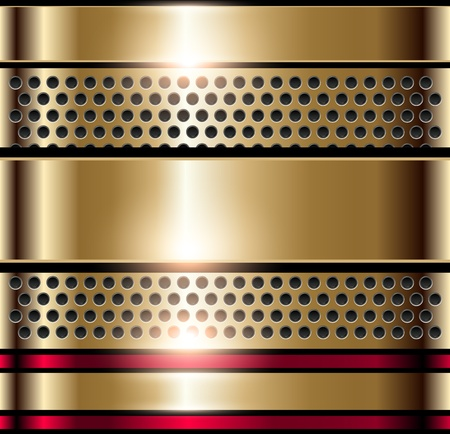 Shiny metallic background gold, vector. Stock Vector - 10541506