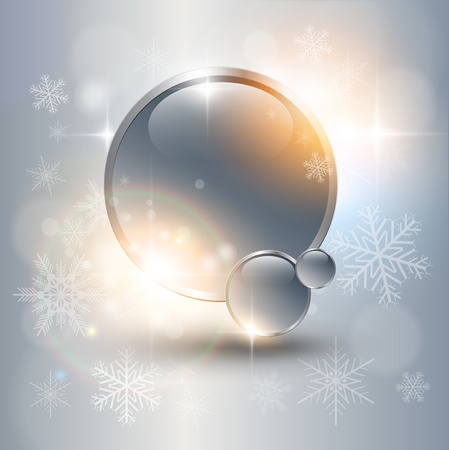 Abstract Christmas background with white snowflakes. Vector