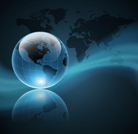 globo terraqueo: Resumen de fondo de negocio con globo mundial, vectores
