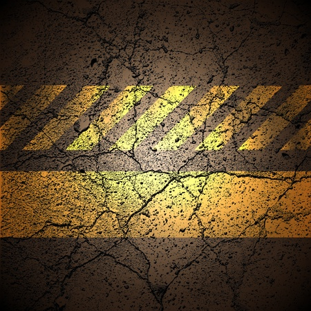 background with cracked road texture, vector. Vector
