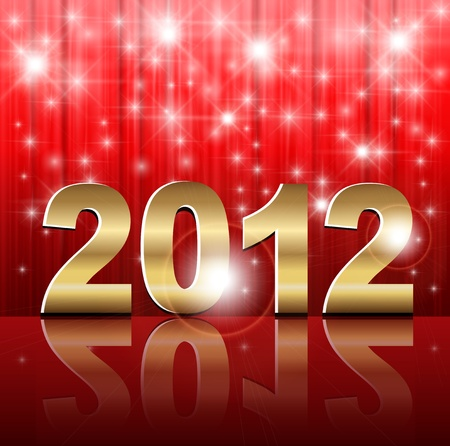 New Year 2012 background, vector illustration. Vector