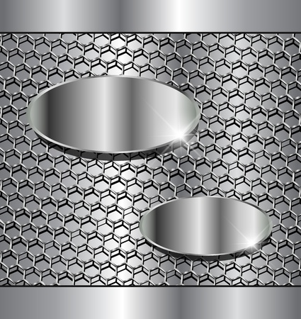 aerodynamic: Abstract background metallic with hexagons pattern. Illustration