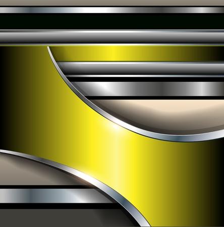 Abstract background elegant gold metallic, vector illustration. Illustration