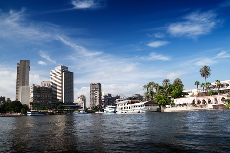cairo: Cairo view from Nile river, Egypt.