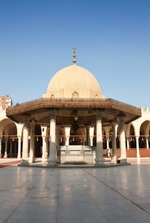 cairo: Mosque Amr Ibn al-As in Cairo, Egypt, oldest mosque in Africa. Editorial